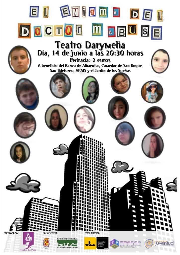 14 junio cartel teatraula El enigma del doctor mabuse